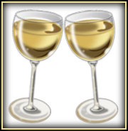 Glasses of champagne; Size=180 pixels wide